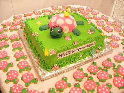 Turtle cake By LoriMc on CakeCentral.com