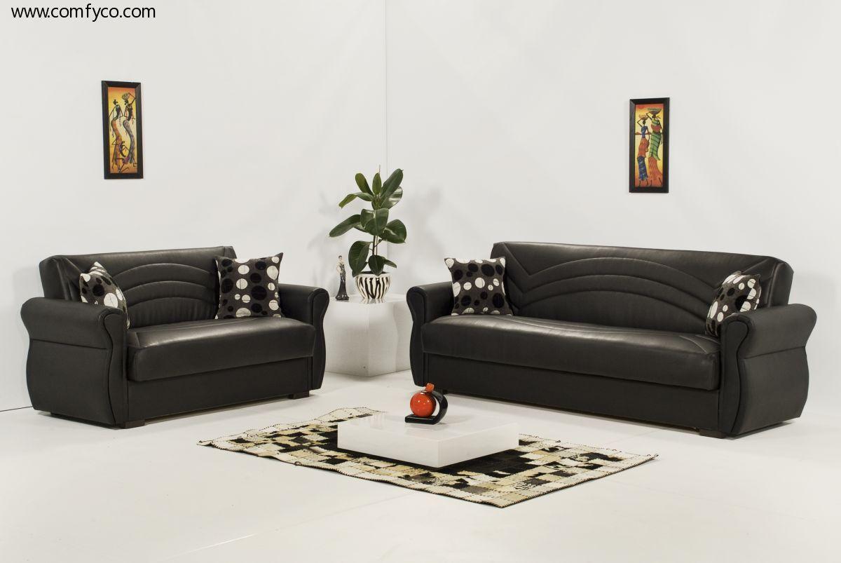 Living Room Con Muebles De Cuero Negro Estoy Seguro De Que He  # Muebles Cinthia Medellin