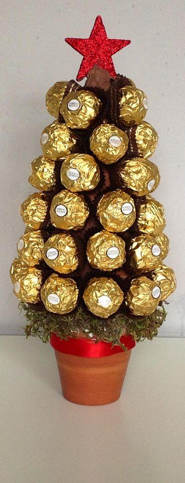 how to make a sweet tree with chocolate buttons