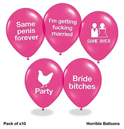 Pack of 12 funny rude birthday balloons gift idea for 30th Birthday Balloons
