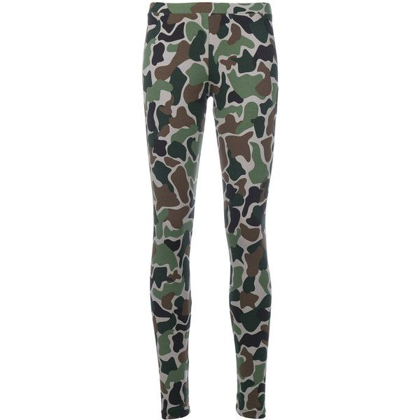 170f673bfa5 Adidas Originals camouflage print leggings ($54) ❤ liked on Polyvore  featuring pants, leggings, green, camo print leggings, adidas originals  pants, ...