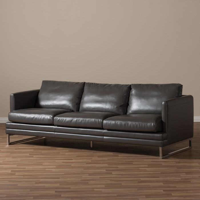 Calla Leather Sofa & Reviews | AllModern | B | Leather sofa ...