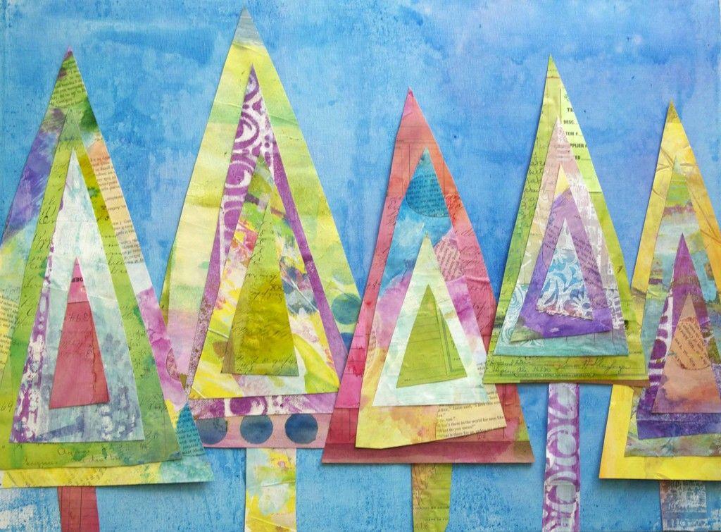 rbol navidad triangulo