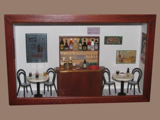 urne id e d coration urne type bistrot guinguette mini vitrine bistrot urne pinterest. Black Bedroom Furniture Sets. Home Design Ideas