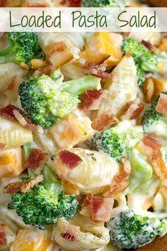 Loaded Pasta Salad | bakeatmidnite.com | #salad #pasta #recipe