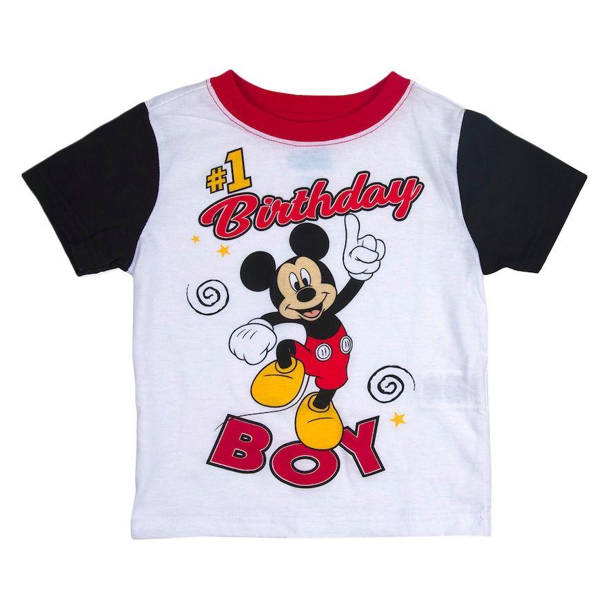 "Disney's Mickey Mouse Toddler Boy ""1 Birthday Boy"