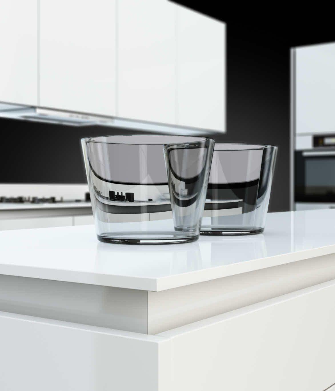Kitchens From German Maker Poggenpohl: The Poggenpohl +SEGMENTO Polar White Worktop Is Just 12mm