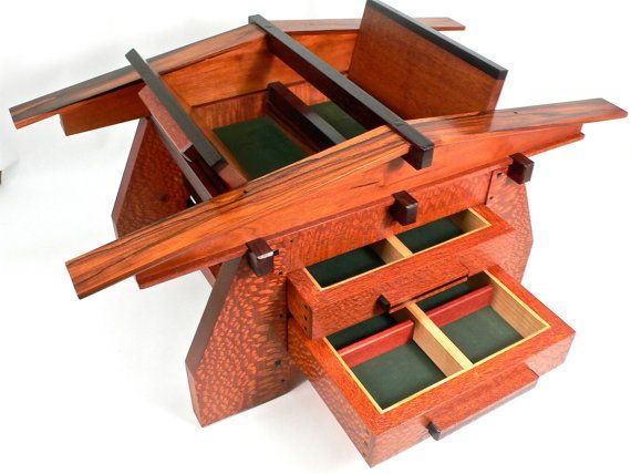 Architectural Jewelry Box Based On Design Elements Of Stickley And