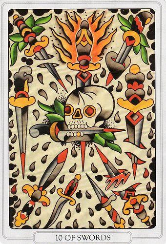 Tarot of the Tattoo Age- Ten of Swords