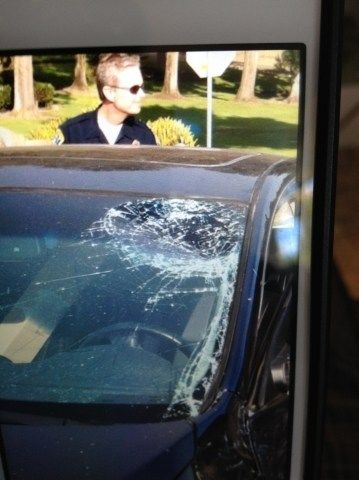 Busted Broken Windshield Busted Windshield Car Window Busted