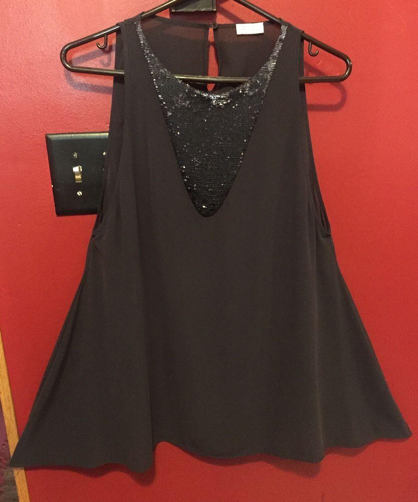 83ee87bd91217 BRUNELLO CUCINELLI Womens Tunic Top Sleeveless Gray Silk Stretch Sz L BNWOT   fashion  clothing
