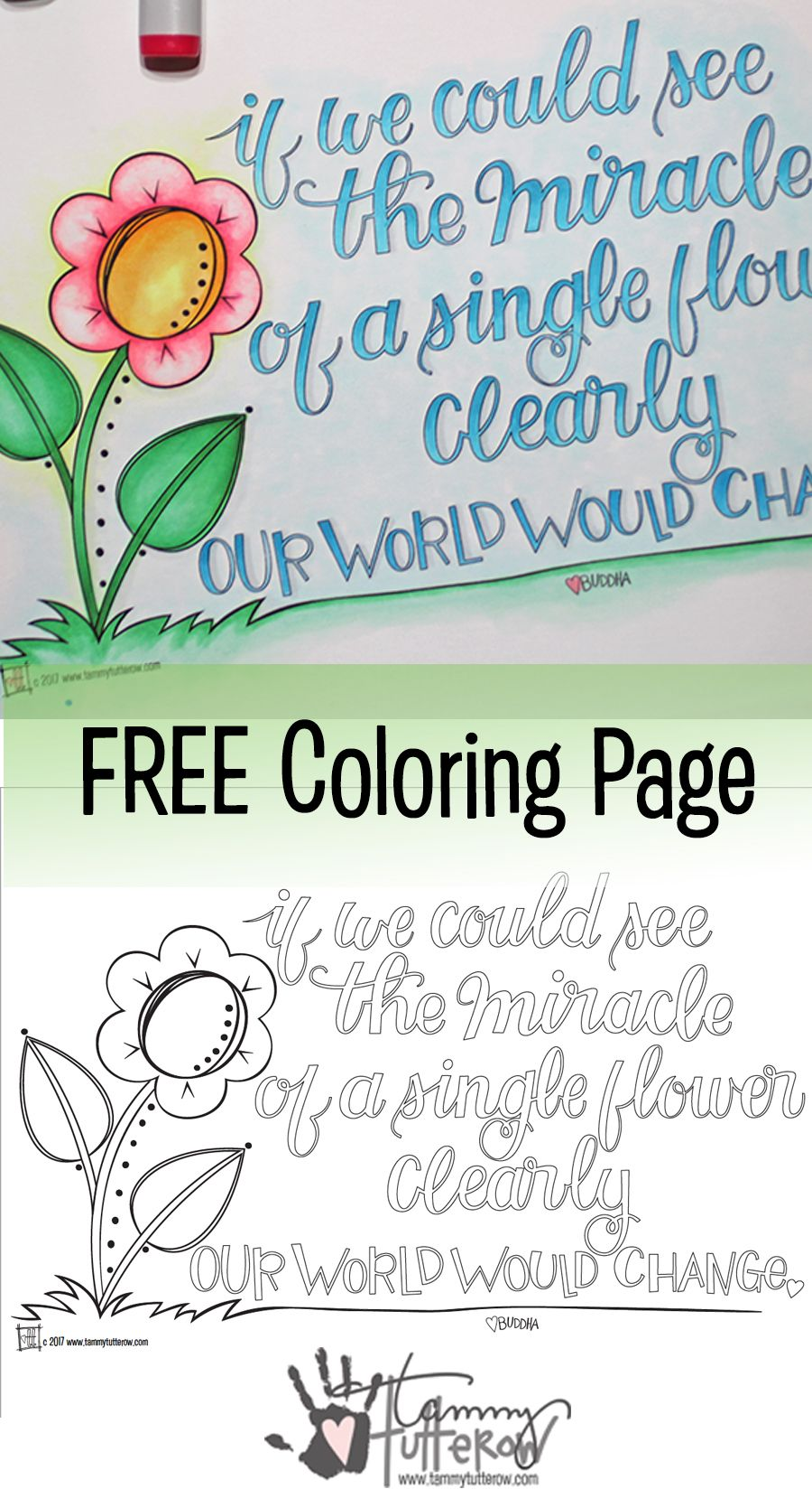 Free Coloring Page: The Miracle of a Single Flower | Pinterest ...