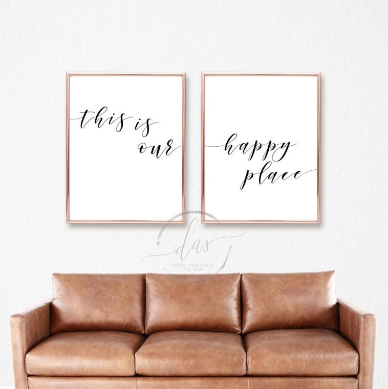 This Is Our Happy Place Printable Sign Set Bedroom Prints | Etsy