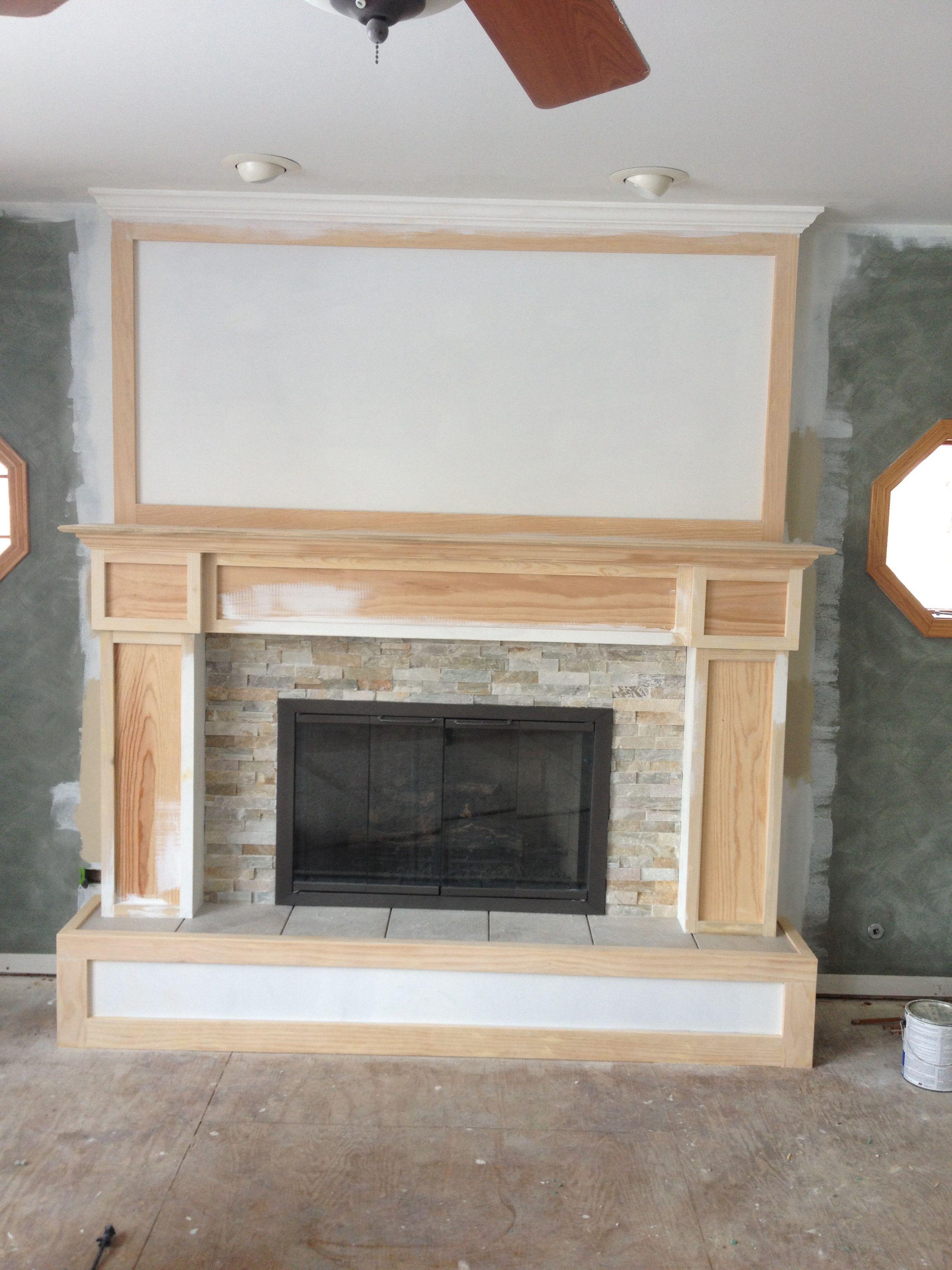 Step 6 Install Fireplace Surround We Used Desert Quartz