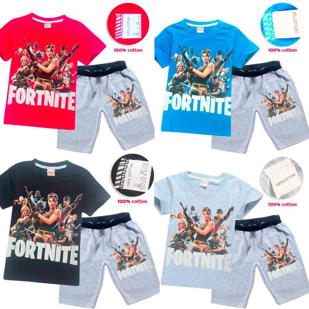 4c3b817710 Boys Fortnite Pyjamas Kids Outfit Fortnight T-Shirt Shorts Ages 6-13  Christmas  fortnite  UK  game