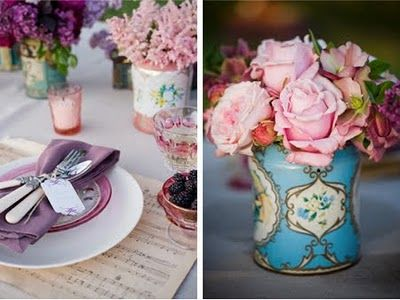 Vintage Place Settings-several great ideas on this site!