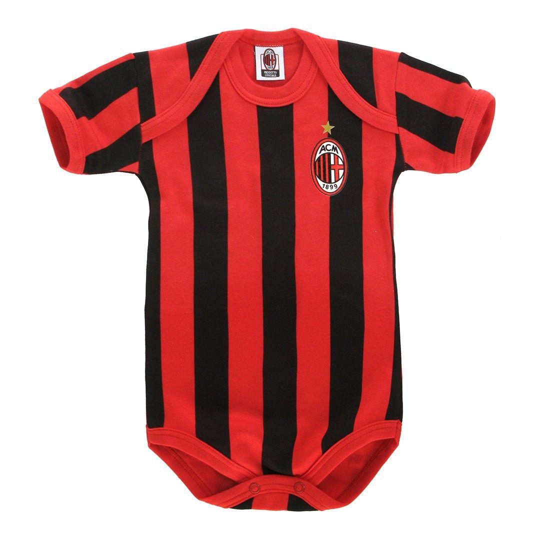 Milan Infant Red And Black Black Onesie Soccer Mom Black