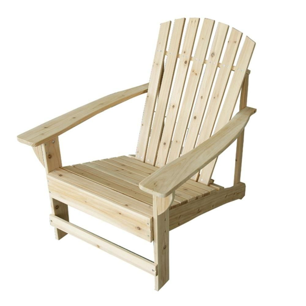 Unfinished adirondack patio chair the home depot outdoor