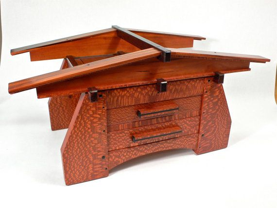 Architectural Stickley Inspired Bungalow Jewelry Box by WoodShiva