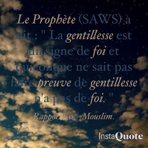 Gentillesse Islam Coran Francais Coran
