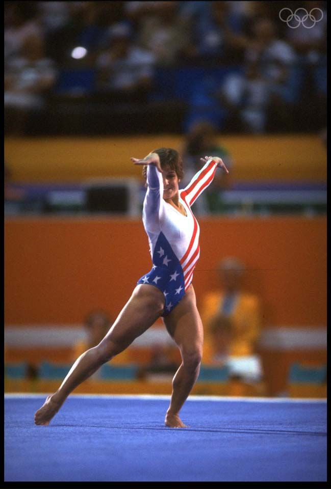 floor gymnastics olympics. 1984 Los Angeles Olympics - Mary Lou Retton Of The United States · Gymnastics FloorGymnastics Floor
