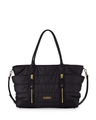 Quilted Nylon Diaper Bag Black By Burberry At Bergdorf Goodman