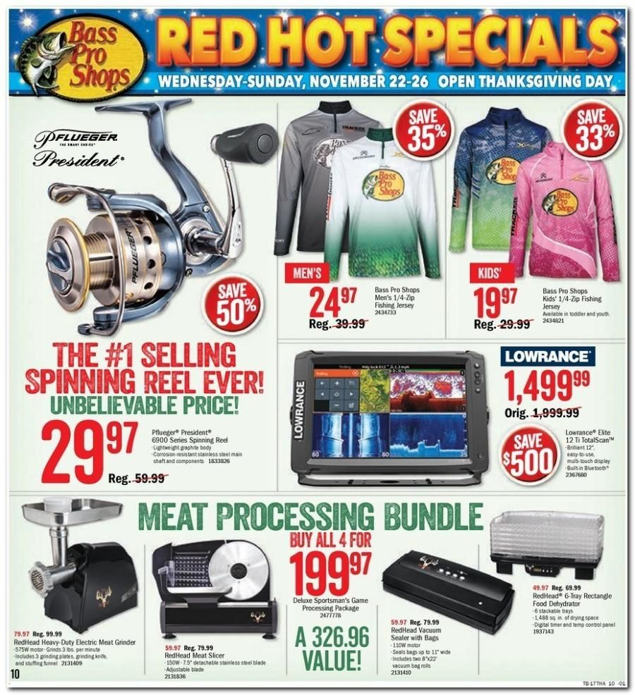 Bass Pro Shops Black Friday Ads Deals On Meat Processing Bundle Black Friday Shopping Best Cyber Monday Black Friday
