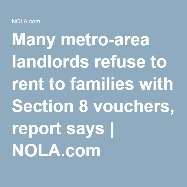 Many metro-area landlords refuse to rent to families with