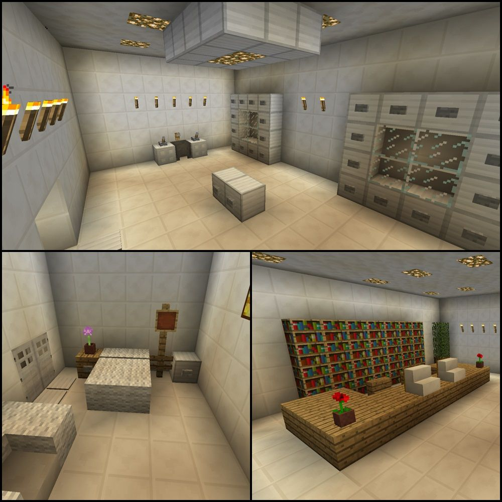 Minecraft Operating Room Hospital Doctor Waiting Office Infirmary Furniture