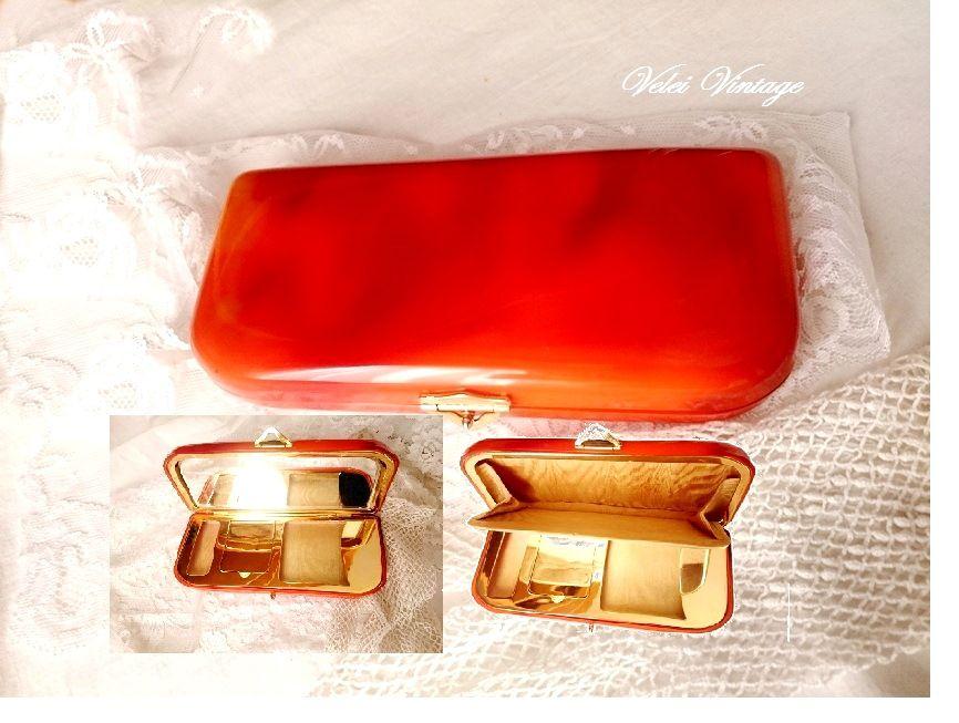 655a703f1 bolso-de-mano-tocador-con-espejo-vintage-clutch-fiesta-ceremonia, boda,  antiguo