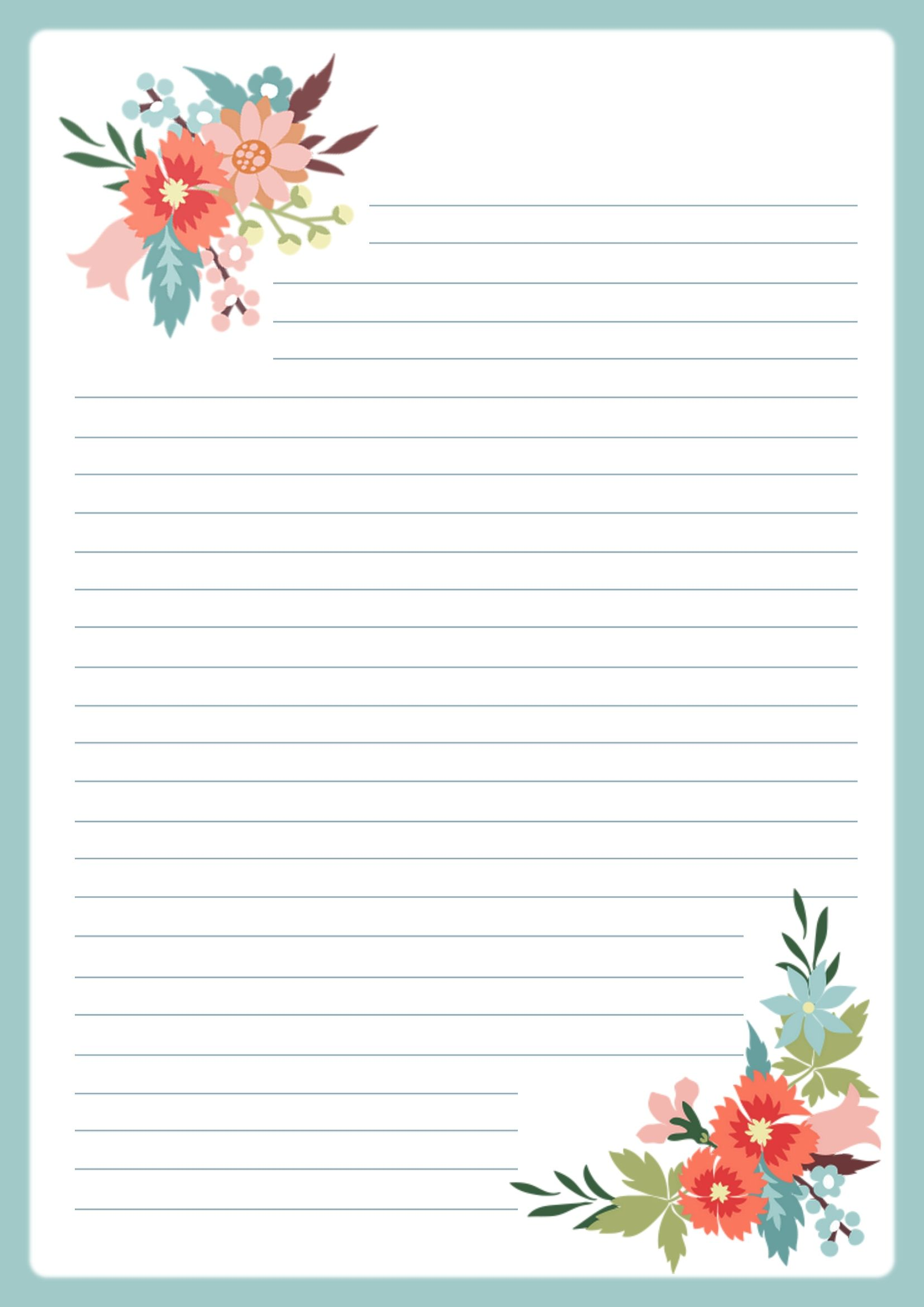 Letter Paper A4 Free Printable Stationery Writing Paper Printable Printable Paper Patterns Letter writing paper free printable