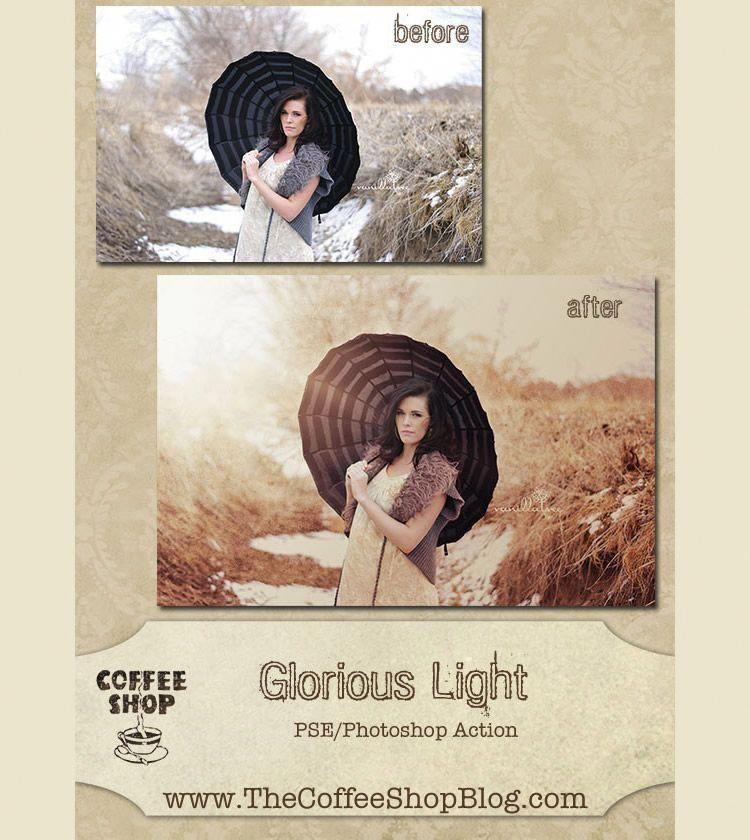 Glorious Light Photoshop Action