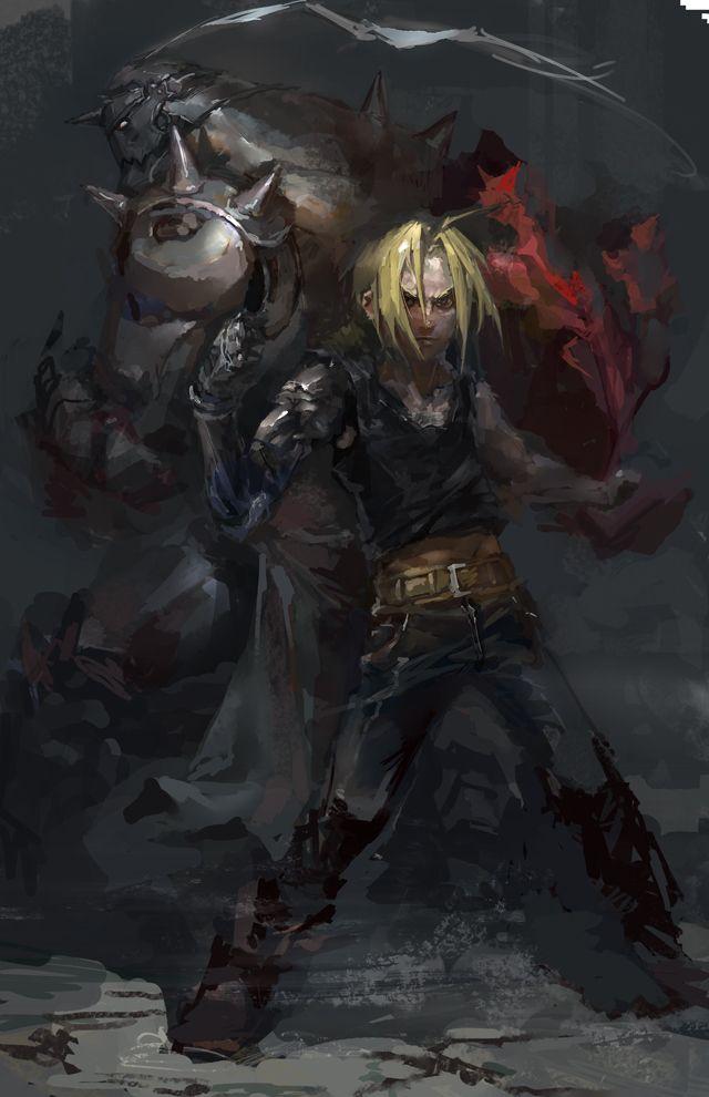 Tags: Anime, Fullmetal Alchemist, Edward Elric, Alphonse Elric, Elric Brothers, Lixiaoyaoii