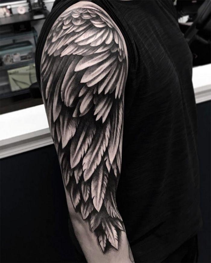 ▷ 1001 + Ideen für ein Engel Tattoo und Infos über die populärsten Designs