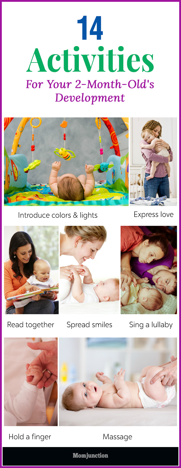Child development in 2 months: skills and achievements of the baby 12