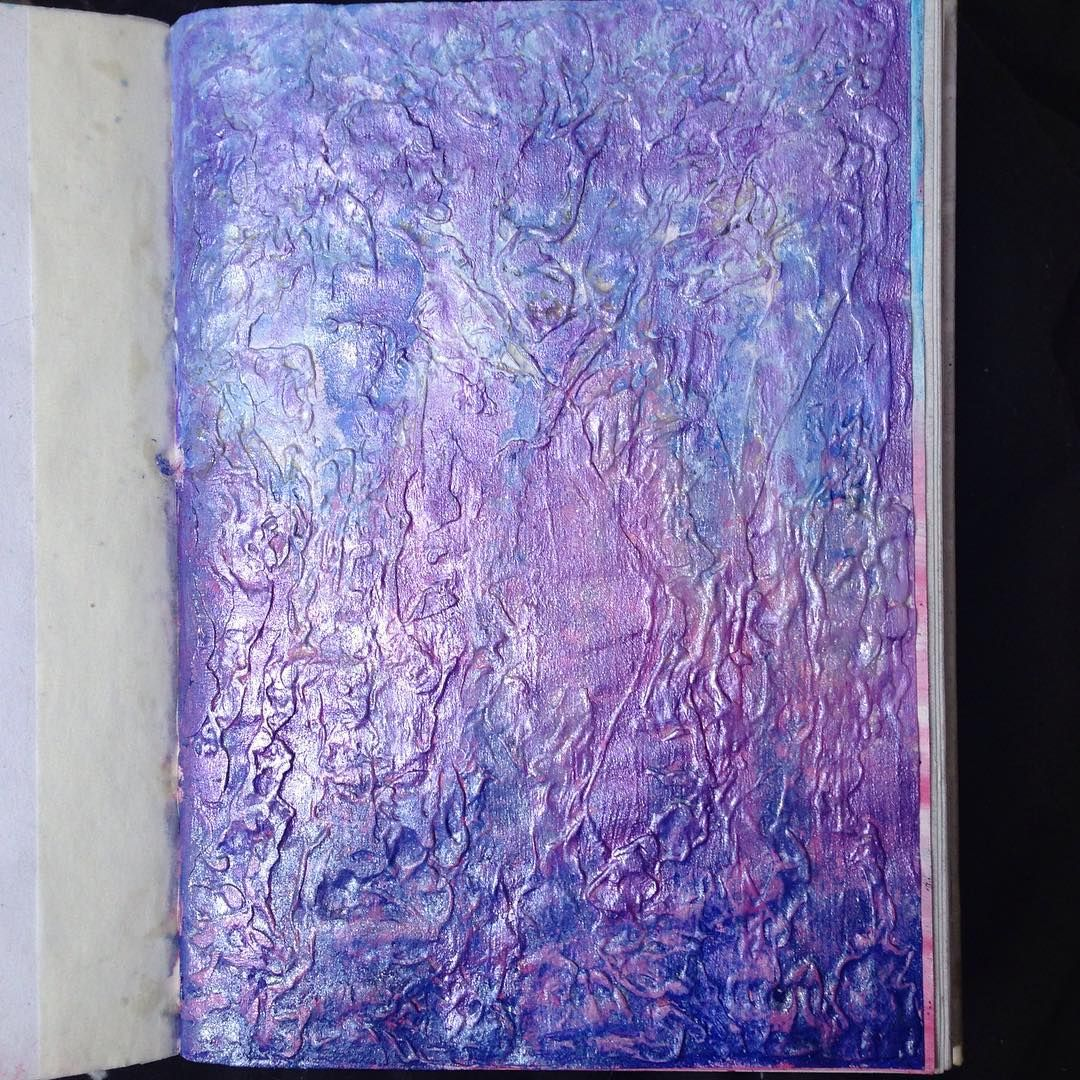 Anti Journal 22: 'create an abstract in chewing gum' (scour) #artjournal #artjournaloing