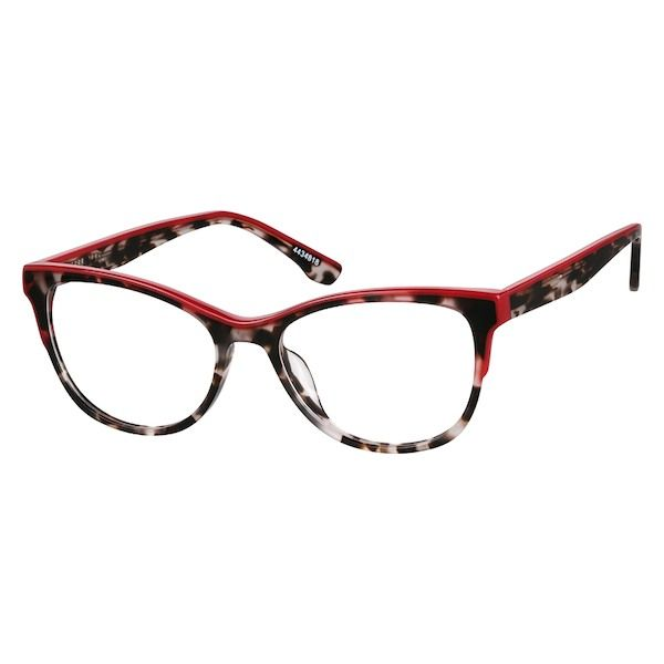 086e9fce887 Zenni Womens Cat-Eye Prescription Eyeglasses Red Tortoiseshell Plastic  4434818