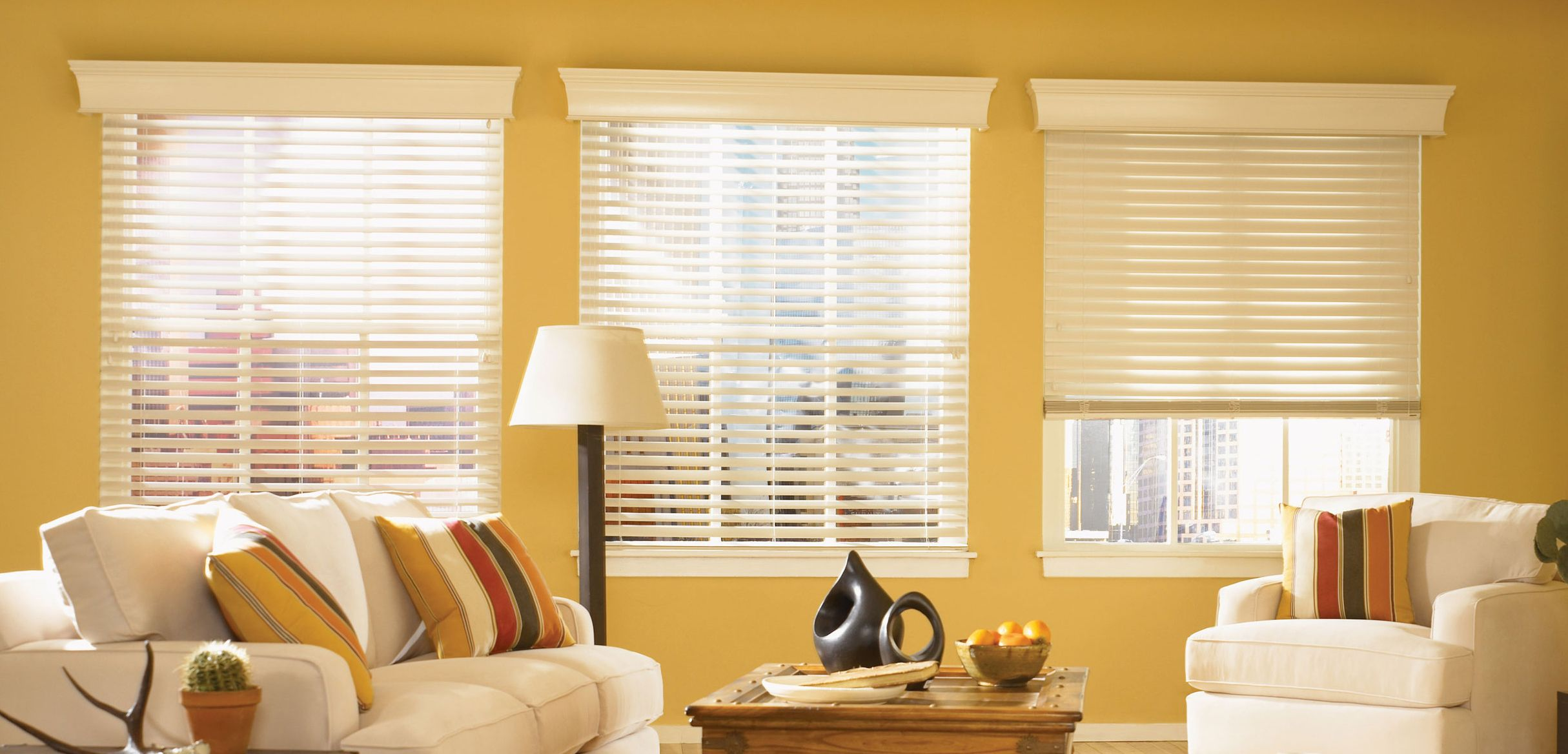 made wood blind blinds window faux venetian contemporary ready b white