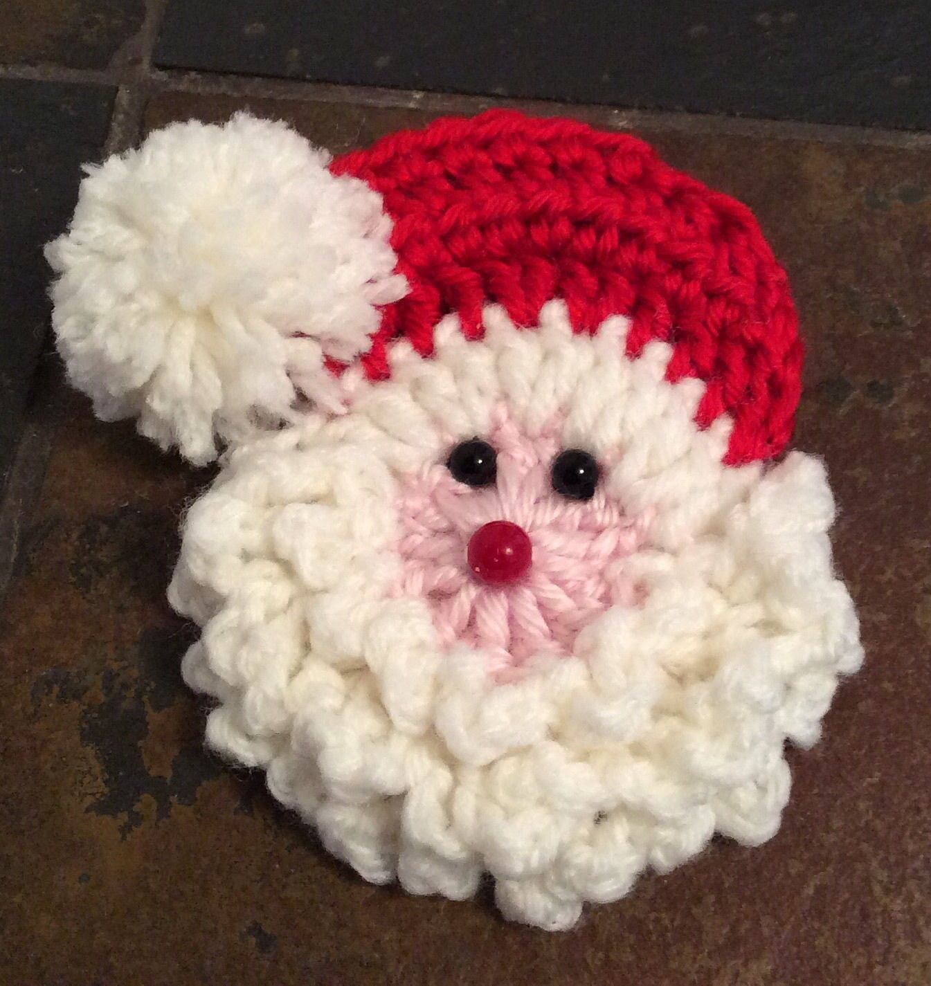 Santa Badge/Decoration Motif By Shalene McKay - Free Crochet Pattern ...