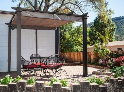 Steel Pergola with at The Home Depot - Hampton Bay 9-1/2 Ft. X 9-1/2 Ft. Steel Pergola With Canopy