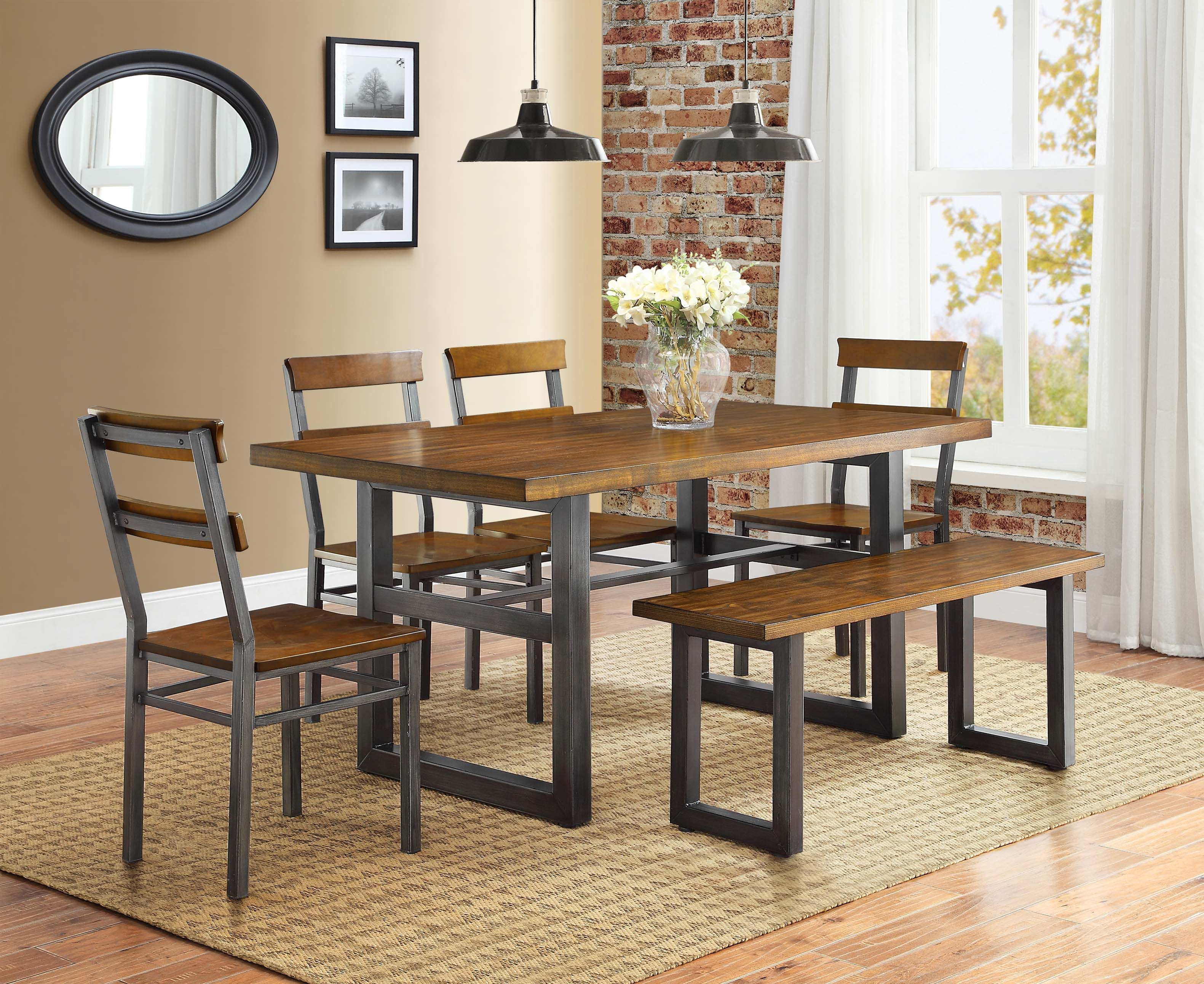 Better Homes Gardens Mercer 5 Piece Counter Height Dining Set