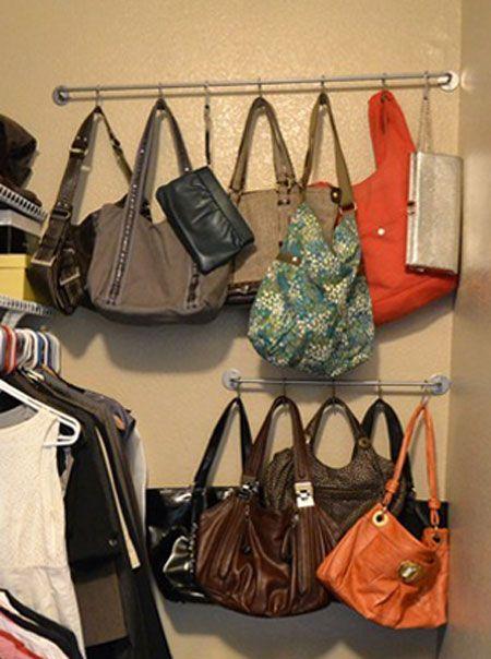 5 Purse Storage Solution, Cleaning Tips, Closet, Shelving Ideas, Storage  Ideasu2026