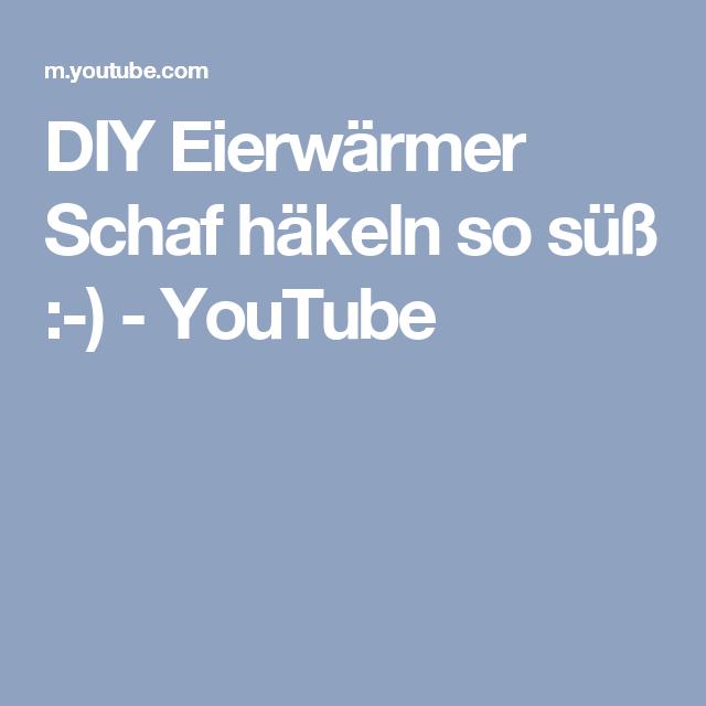 DIY Eierwärmer Schaf häkeln so süß :-) - YouTube | Gemüse Häkeln ...