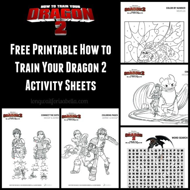 How To Train Your Dragon Free Printables HTTYD2