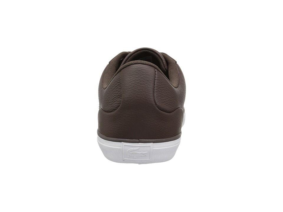 47107206fdc1e5 Lacoste Lerond 118 1 U Men s Shoes Dark Brown Black