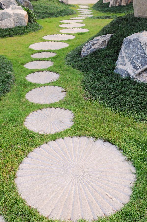 Circular Paver Path Stone Garden Paths Stepping Stone Paths Garden Pathway