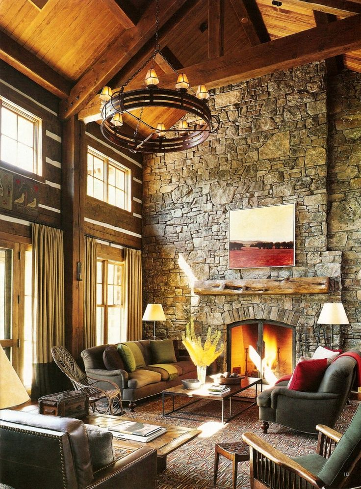 Rustic Mountain Home. Warm Inviting With A Cozy Fireplace In The GreatRoom
