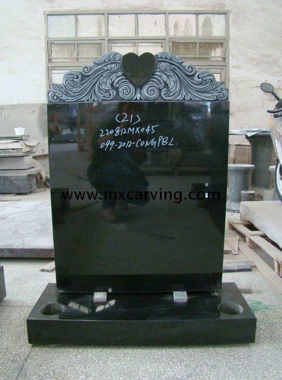 Black Granite Headstones : Black granite headstone uk memorials