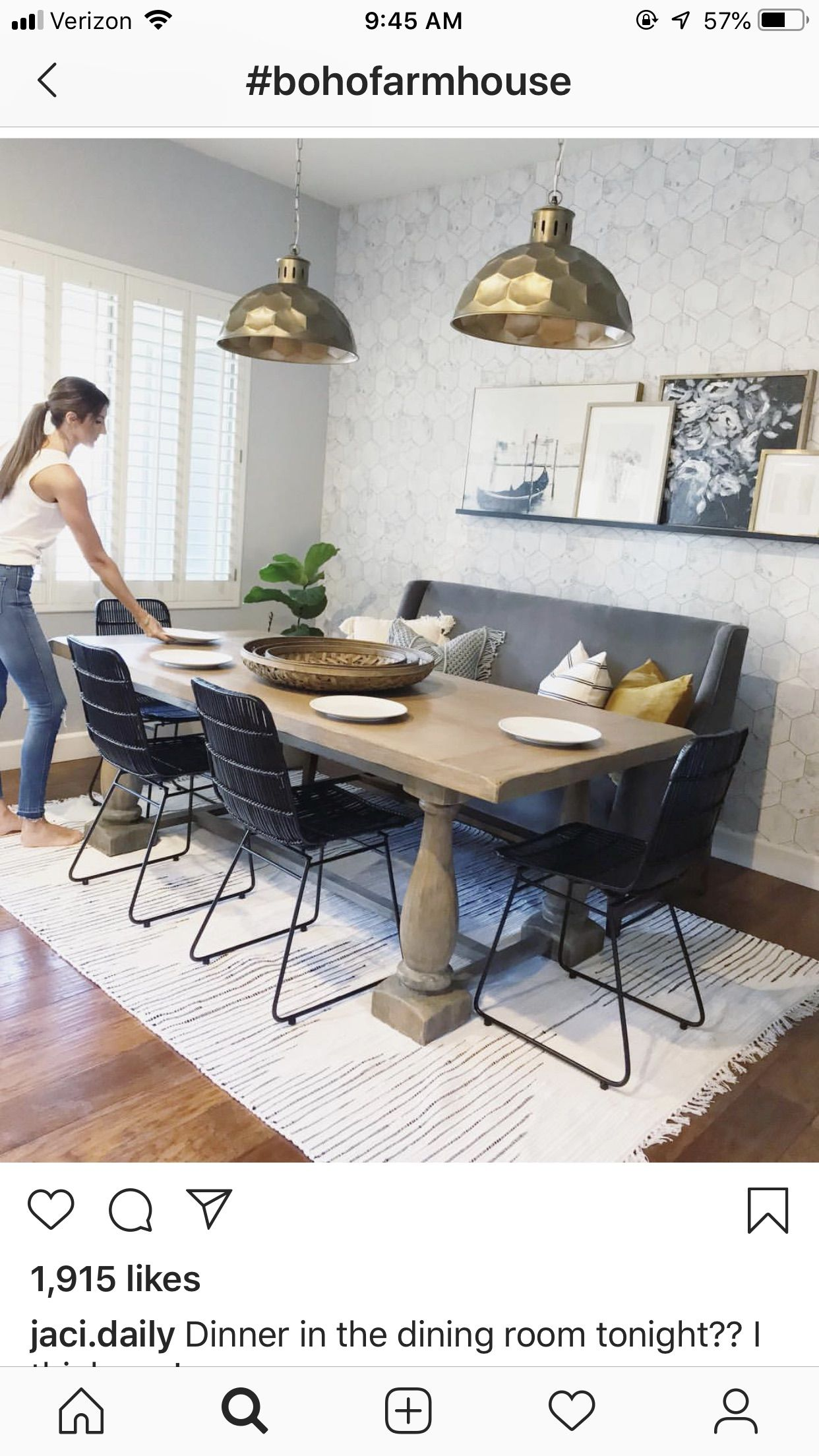 I Like This Layout Of Chairs Table Bench Seat Against The Wall