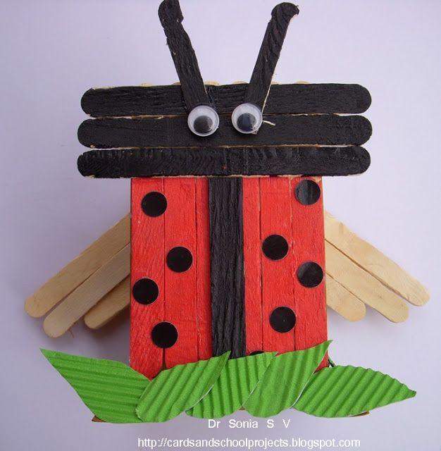 Crafty time lady bird and owl from popsicle sticks things to do crafty time lady bird and owl from popsicle sticks things to do yourself ladybugskids craftscraft solutioingenieria Images